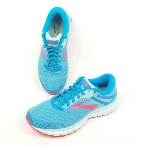 Brooks Adrenaline GTS 18 Womens Size 10 Blue Pink